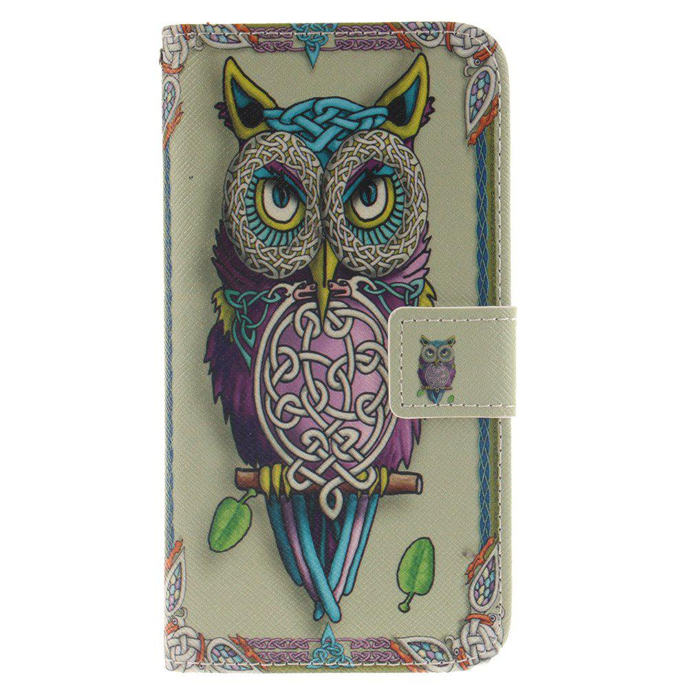 Cover Case For LG G5 Owl PU+TPU Leather with Stand and Card Slots Magnetic Closure - YELLOW