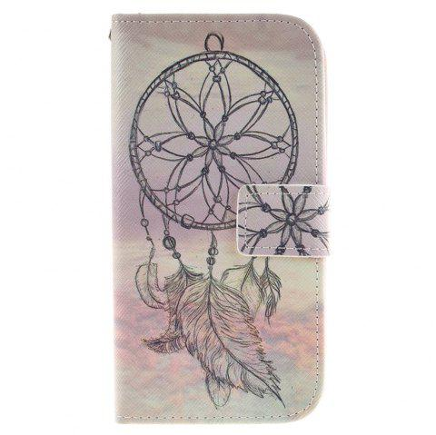 Cover Case For LG K10 Dreamcatcher PU+TPU Leather with Stand and Card Slots Magnetic Closure - YELLOW