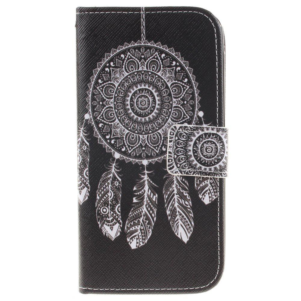 Cover Case For LG K10 Black Wind Chimes PU+TPU Leather with Stand and Card Slots Magnetic Closure - BLACK