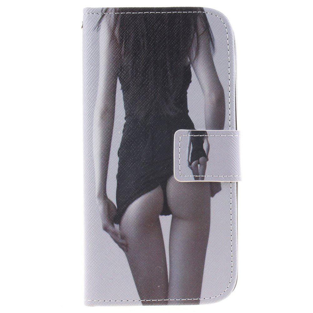 Cover Case For LG K10 Sexy Girl PU+TPU Leather with Stand and Card Slots Magnetic Closure - BLACK
