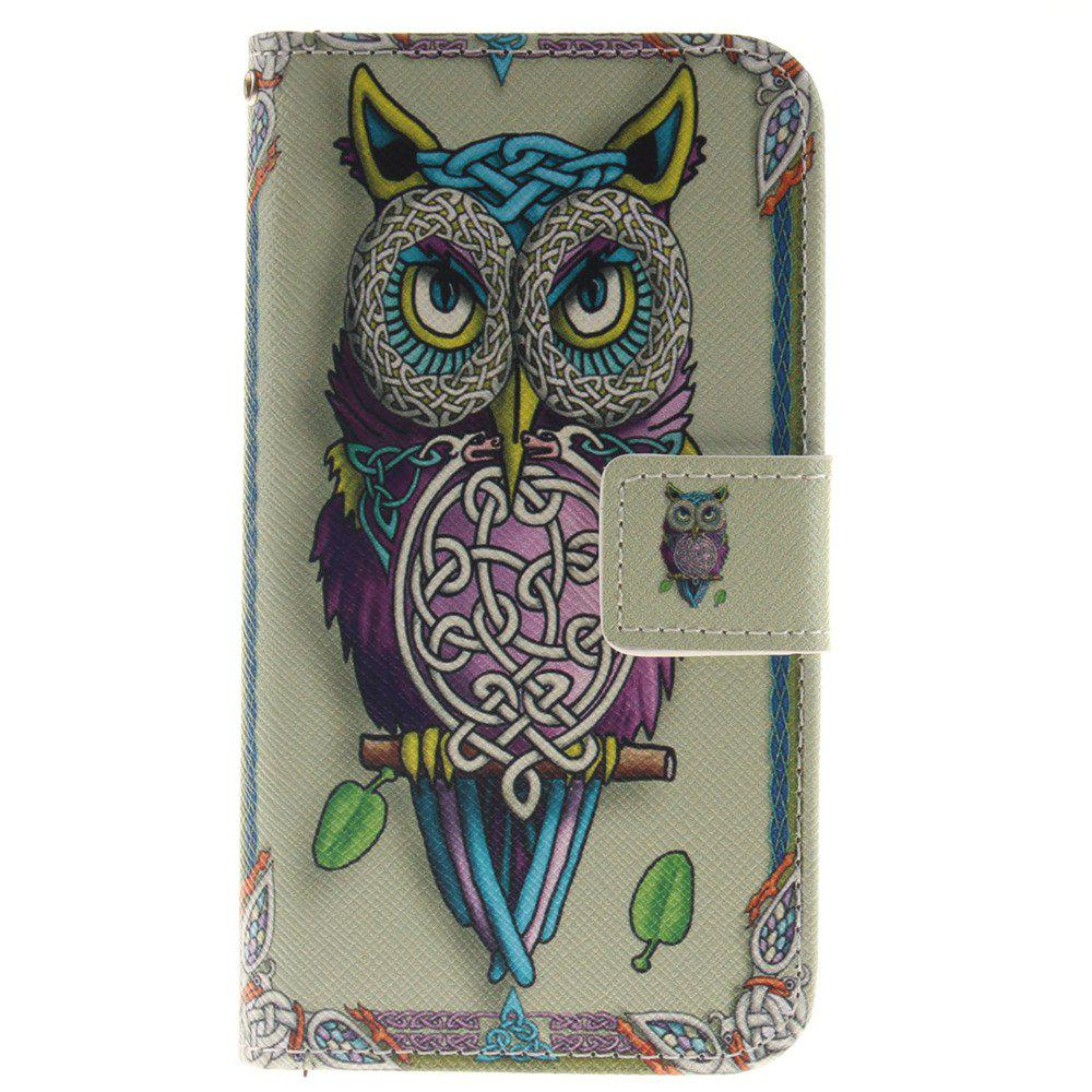 Cover Case For LG K4 Owl PU+TPU Leather with Stand and Card Slots Magnetic Closure - YELLOW