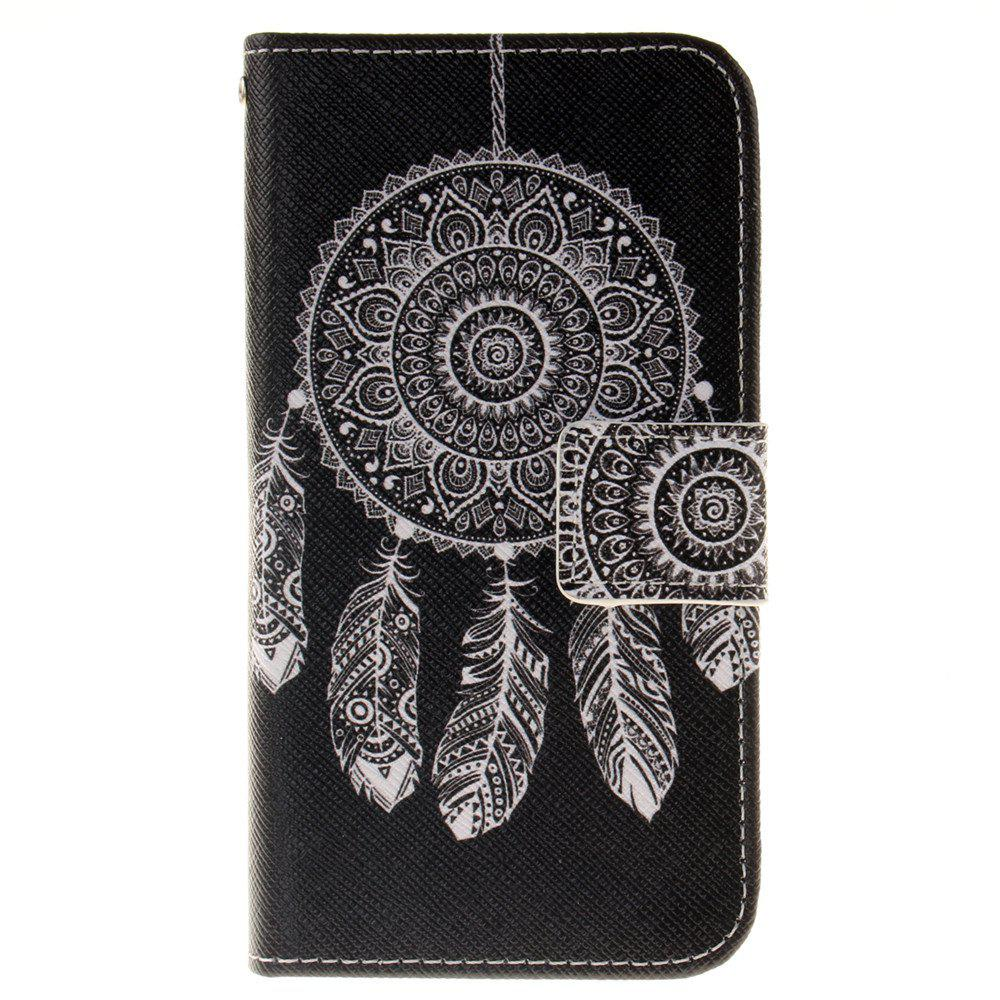 Cover Case For LG K4 Black Wind Chimes PU+TPU Leather with Stand and Card Slots Magnetic Closure - BLACK