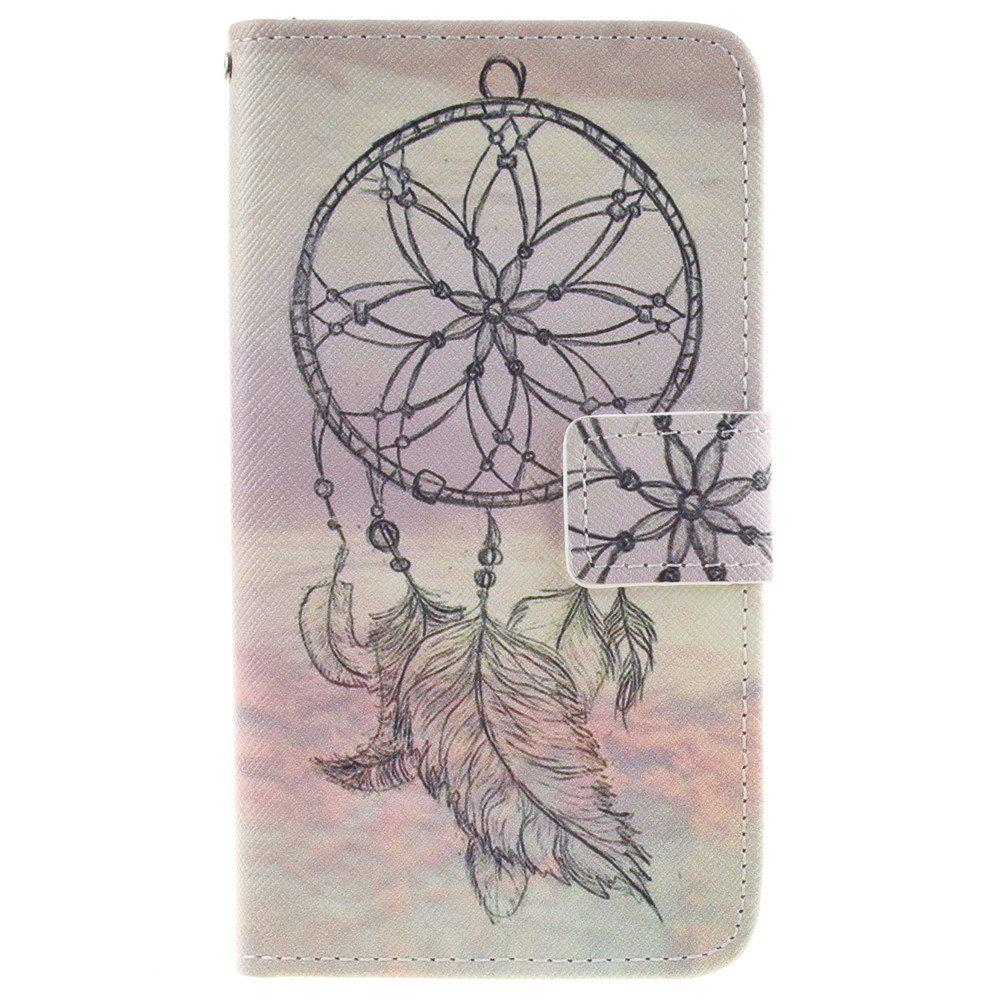Cover Case For LG K7 Dreamcatcher PU+TPU Leather with Stand and Card Slots Magnetic Closure - YELLOW