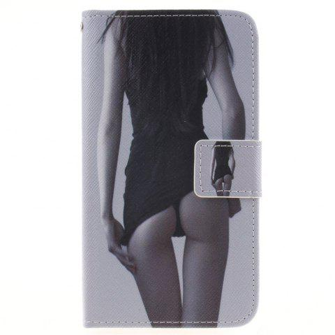 Cover Case For LG K7 Sexy Girl PU+TPU Leather with Stand and Card Slots Magnetic Closure - BLACK
