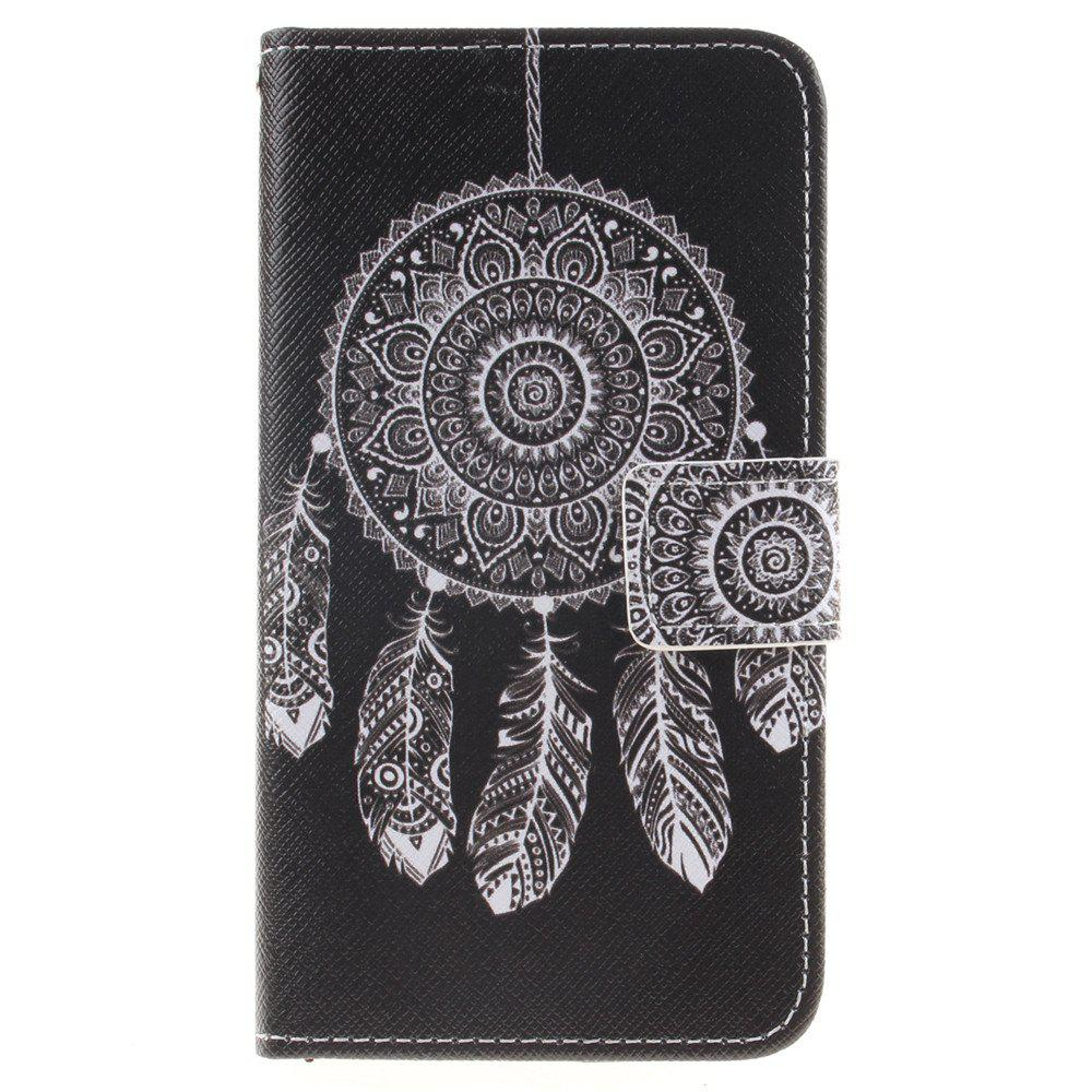 Cover Case For LG K8 Black Wind Chimes PU+TPU Leather with Stand and Card Slots Magnetic Closure - BLACK