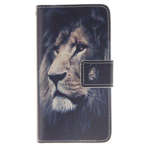 Cover Case For LG Leon Lion PU+TPU Leather with Stand and Card Slots Magnetic Closure - BLACK