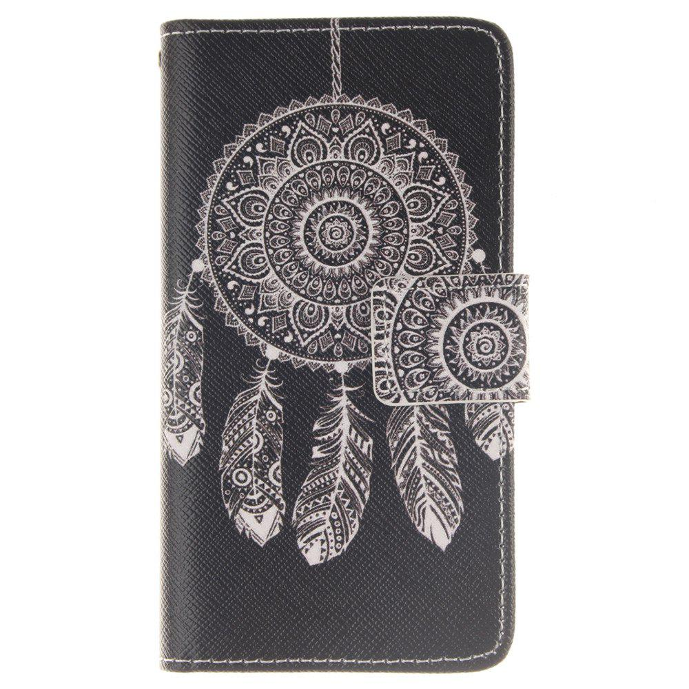 Cover Case For LG Leon Black Wind Chimes PU+TPU Leather with Stand and Card Slots Magnetic Closure - BLACK