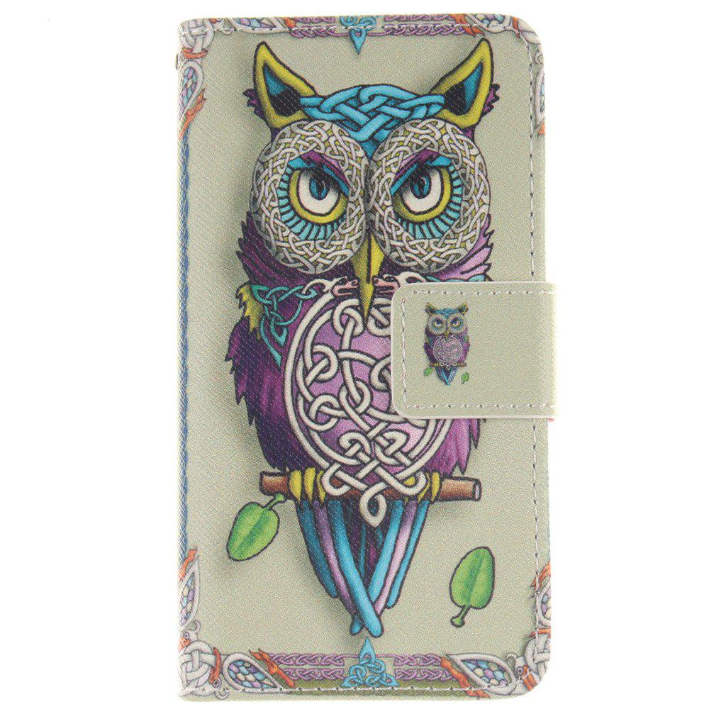 Cover Case For LG Leon Owl PU+TPU Leather with Stand and Card Slots Magnetic Closure - YELLOW