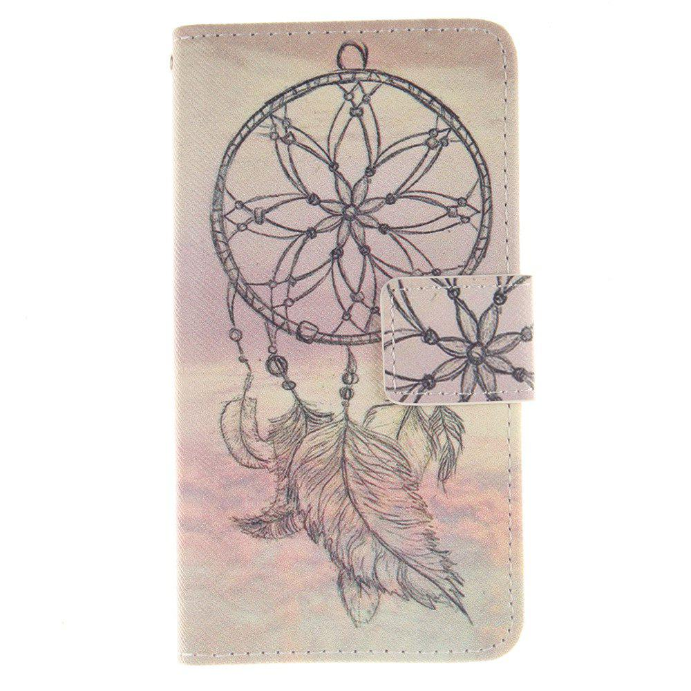Cover Case For LG Leon Dreamcatcher PU+TPU Leather with Stand and Card Slots Magnetic Closure - YELLOW