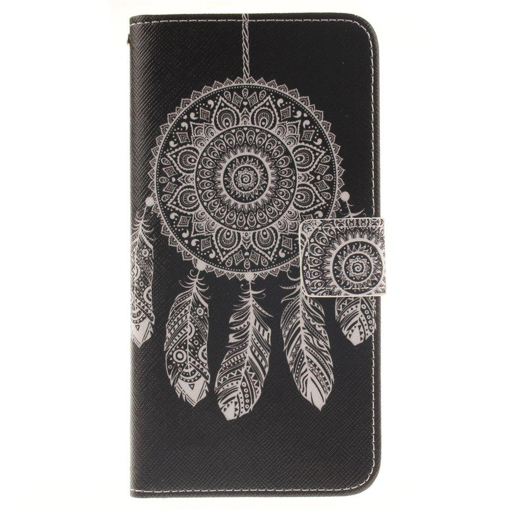 Cover Case For LG V10 Black Wind Chimes PU+TPU Leather with Stand and Card Slots Magnetic Closure - BLACK
