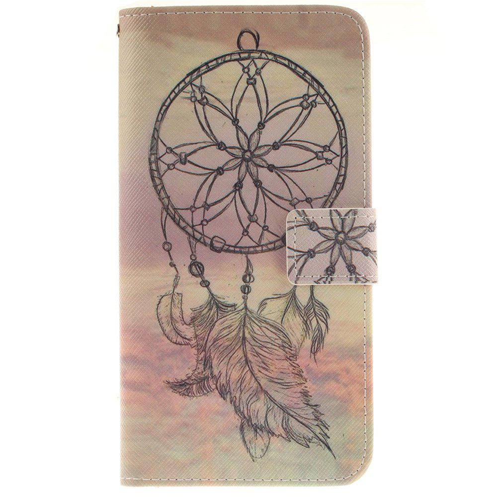Cover Case For LG V10 Dreamcatcher PU+TPU Leather with Stand and Card Slots Magnetic Closure - YELLOW