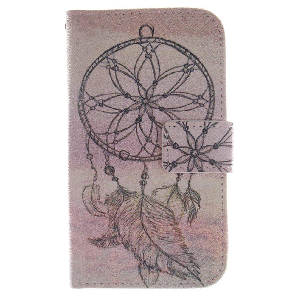 Cover Case For LG G2 Mini Dreamcatcher PU+TPU Leather with Stand and Card Slots Magnetic Closure - YELLOW