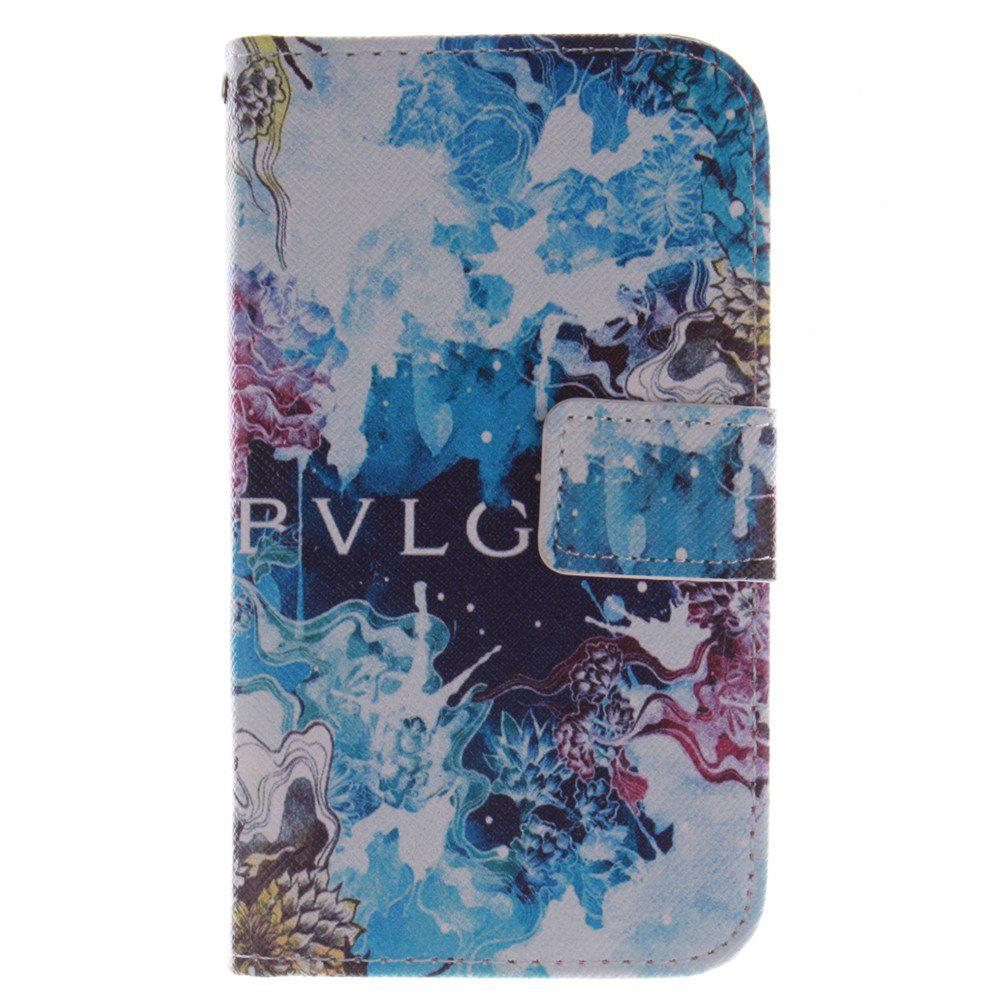 Cover Case For LG G2 Mini Beautiful Blue PU+TPU Leather with Stand and Card Slots Magnetic Closure - BLUE