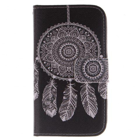 Cover Case For LG G2 Mini Black Wind Chimes PU+TPU Leather with Stand and Card Slots Magnetic Closure - BLACK