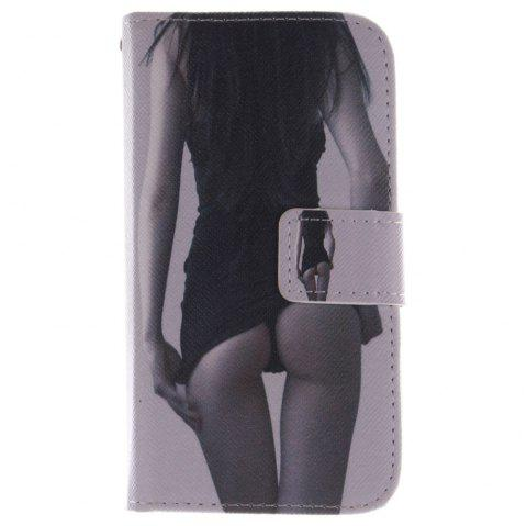 Cover Case For LG G2 Mini Sexy Girl PU+TPU Leather with Stand and Card Slots Magnetic Closure - BLACK