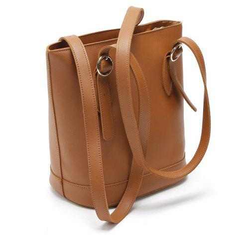 New Fashion women Bucket Handbag Adjustable Strip Pu Leather Shoulder Bag  Ladies Backpack Bags - BROWN ec43a9eb373ce