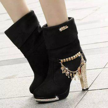 High - size Foreign Trade In The High - size Of Martin Boots - BLACK 37