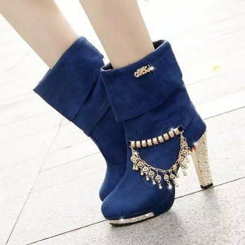 High - size Foreign Trade In The High - size Of Martin Boots - BLUE 38