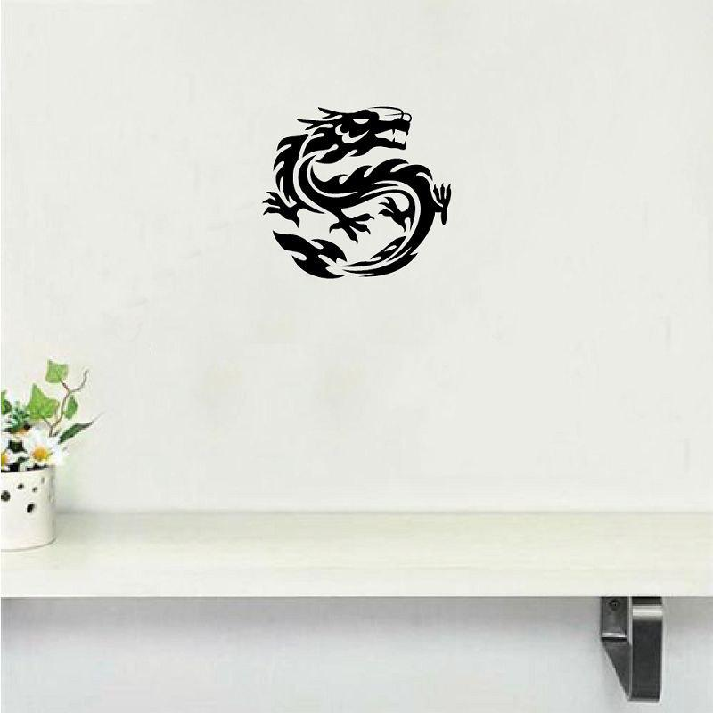 DSU Chinese Dragon Wall Sticker Creative Cartoon Dragon Vinyl Wall Decal Home Decor dsu creative peeping elves decorative door or wall sticker vinyl decal home decor