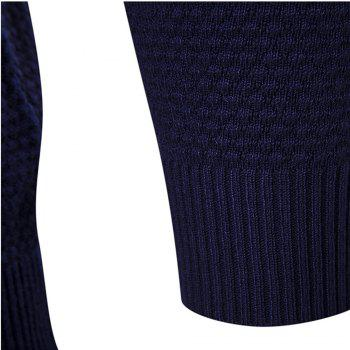Autumn Winter Men Fashion Diamond Grid V-Neck Knit Sweater - GRAY M