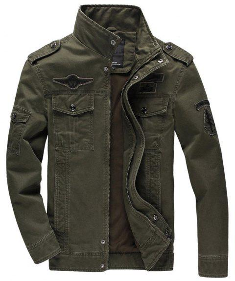 38bbfb4bb2462 Men S Cotton Coat Plus Size Military Style Tooling Jacket - ARMYGREEN 4XL