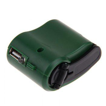 Charger for Mobile Phone MP3 MP4 Travel Cell USB Hand Crank Manual Dynamo Emergency - GREEN