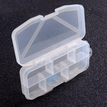 Multifunctional High Strength Plastic Tackle Multi-Compartments Transparent Fishing Box - TRANSPARENT SMALL