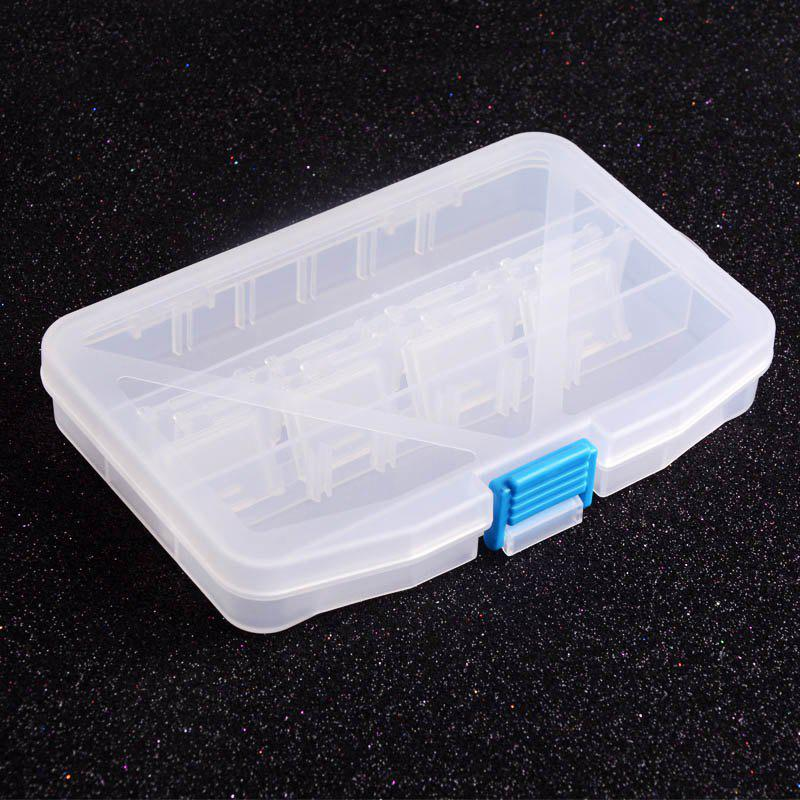 Multifunctional High Strength Plastic Tackle Multi-Compartments Transparent Fishing Box - TRANSPARENT LARGE