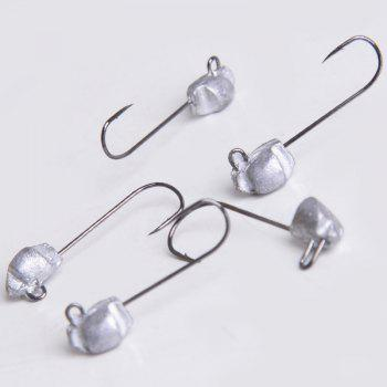 Lead Jig Head Fishing Hook 5PCS / LOT 0.7g 2C - LIGHT GRAY