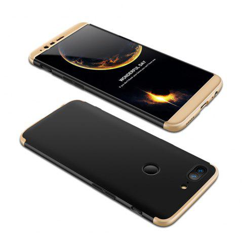 Cover Case for One Plus 5T 360 Degree Full Protection  Hard PC 3 in 1 Fundas Coque Back - BLACK / GOLDEN