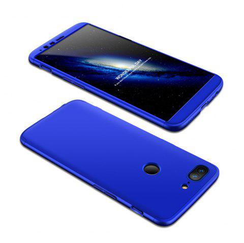 Cover Case for One Plus 5T 360 Degree Full Protection  Hard PC 3 in 1 Fundas Coque Back - BLUE