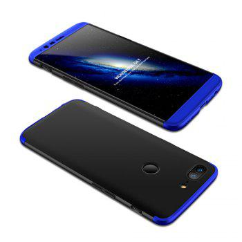 Cover Case for One Plus 5T 360 Degree Full Protection  Hard PC 3 in 1 Fundas Coque Back - BLACK + BLUE BLACK / BLUE