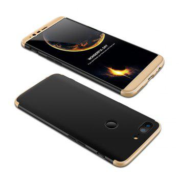 Cover Case for One Plus 5T 360 Degree Full Protection  Hard PC 3 in 1 Fundas Coque Back - BLACK + GOLDEN BLACK / GOLDEN
