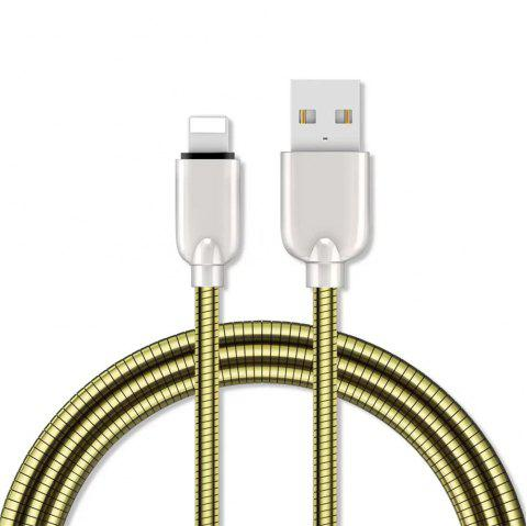 1M Zinc Alloy Fast Charging Data Sync Charger Cable for iPhone - GOLDEN