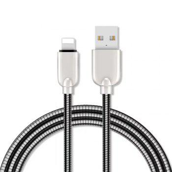 1M Zinc Alloy Fast Charging Data Sync Charger Cable for iPhone - BLACK BLACK