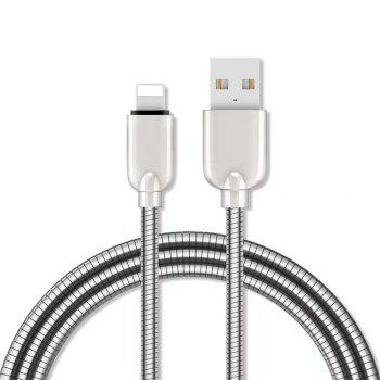1M Zinc Alloy Fast Charging Data Sync Charger Cable for iPhone - SILVER SILVER