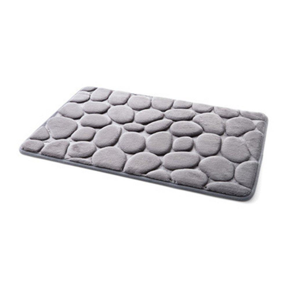 Memory Foam Bath Mat Polyester Soft Fiber Rugs Pebble Carpet Floor Mats Carpet Bathroom Door Home Decor