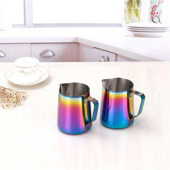 Multicolor Milk Frothing Jug Espresso Coffee Pitcher Barista Craft Coffee Latte Stainless Steel Espresso 600ML - COLOR
