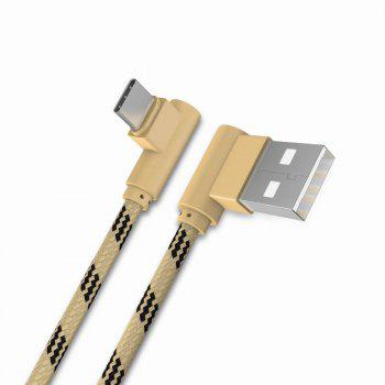 1M Type-C Cable Charge For Samsung S8 Plus Xiaomi 90 Degree  Cable For Oneplus 5t Huawei - GOLDEN