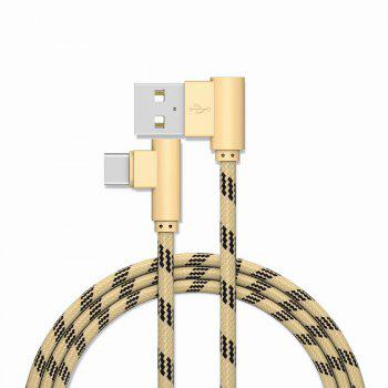1M Type-C Cable Charge For Samsung S8 Plus Xiaomi 90 Degree  Cable For Oneplus 5t Huawei - GOLDEN GOLDEN