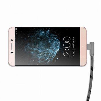 1M Type-C Cable Charge For Samsung S8 Plus Xiaomi 90 Degree  Cable For Oneplus 5t Huawei - BLACK