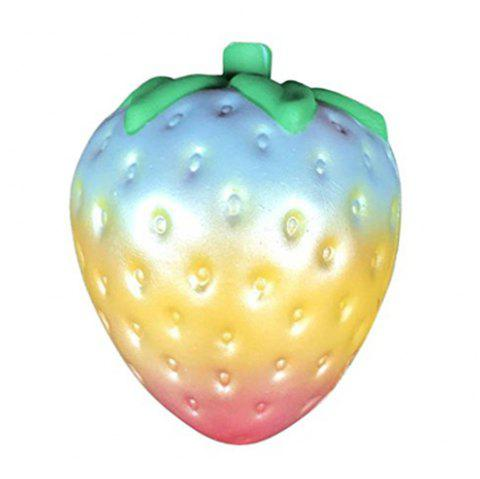 1PC Rainbow Strawberry Squishy Super Jumbo Scented Slow Rising Rare Fun Toy - COLOUR