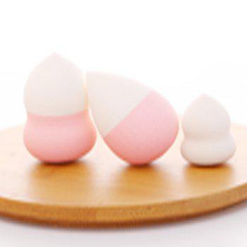 Cute Makeup Foundation Sponge Puff Flawless Smooth Powder Cosmetic Women Accessoriess3pcs - LIGHT PINK