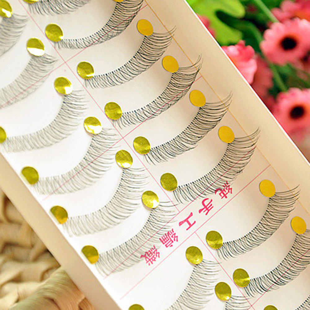 Фото 10 Pair One Set Different Styles Fake Eyelashes Hand Made Charming Cross False Eyelashes