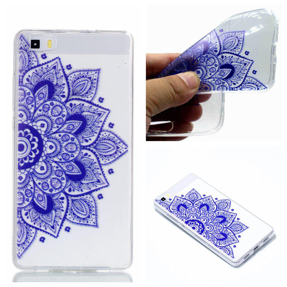 for Huawei P8 Lite Ethnic Style Soft Clear TPU Phone Casing Mobile Smartphone Cover Shell Case - BLUE