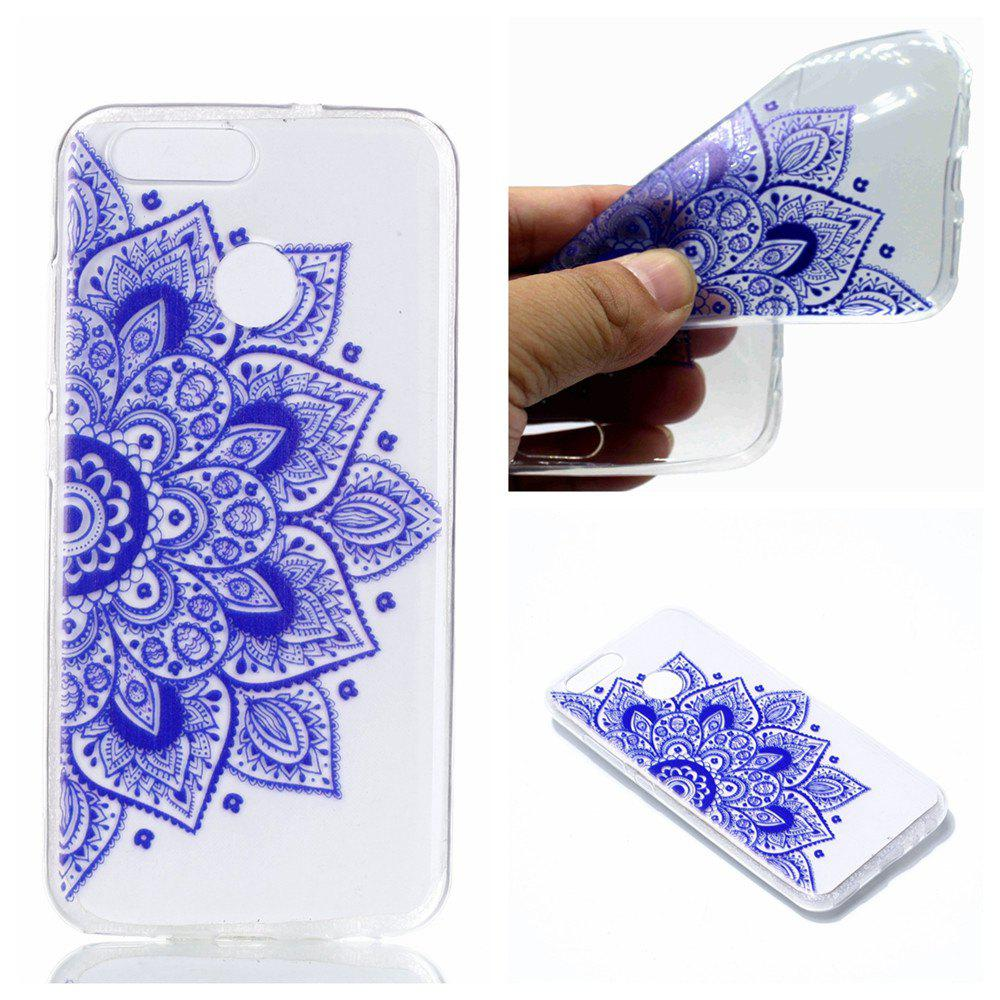 for Huawei Nova 2 Ethnic Style Soft Clear TPU Phone Casing Mobile Smartphone Cover Shell Case - BLUE
