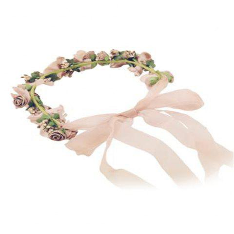 Pure Handmade Princess Wreath Bridal Headdress - CHAMPAGNE
