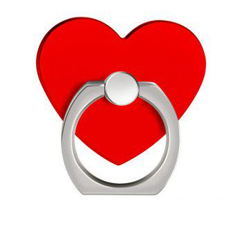 360 Degree Rotating Heart Shape Cell Phone Finger Ring Holder Stand - RED RED