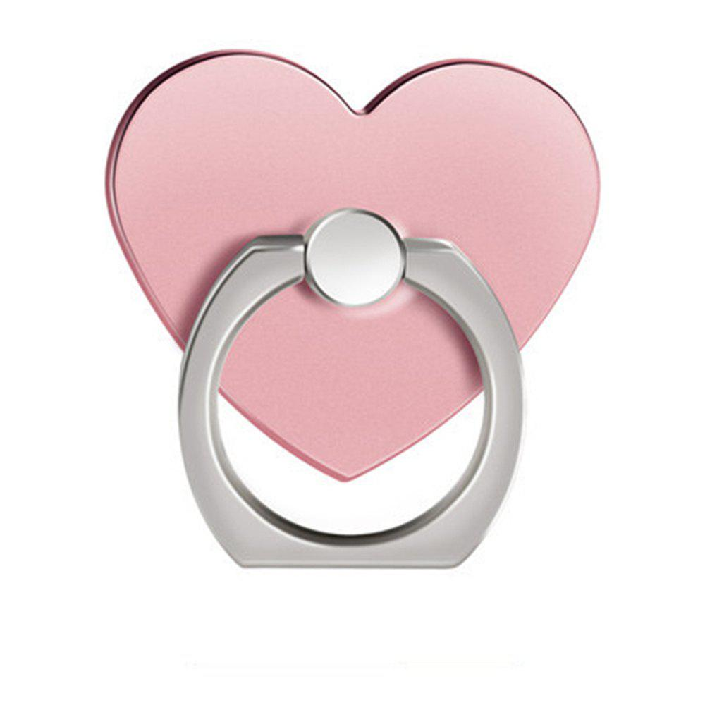 360 Degree Rotating Heart Shape Cell Phone Finger Ring Holder Stand - ROSE GOLD