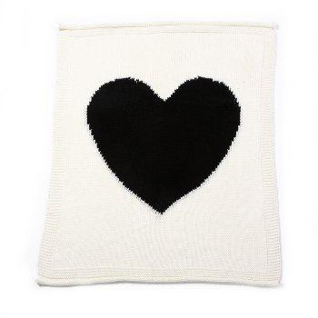 Child Blanketboys and Girls Knitted Blanket Love Wool Quilts - WHITE WHITE